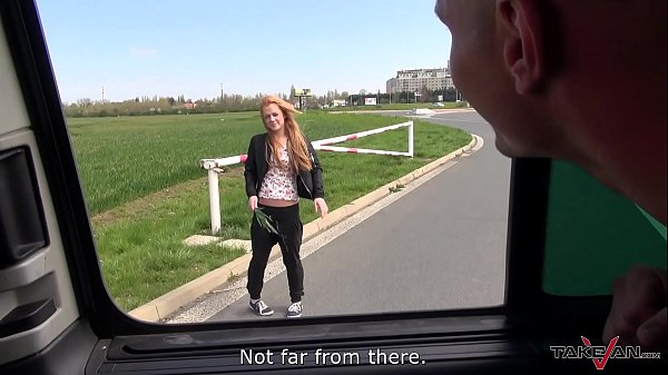 Skinny, Outdoor, Fake taxi, Car blowjob