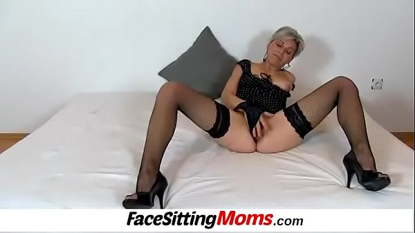 Facesitting, Mature and boy, Granny and boy, Old and young, Mature boy, Boy mom
