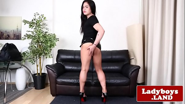 Tranny solo, Asian shemale, Panties ass