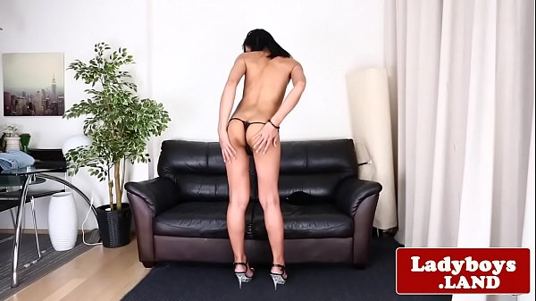 Tranny solo, Asian shemale, Tease